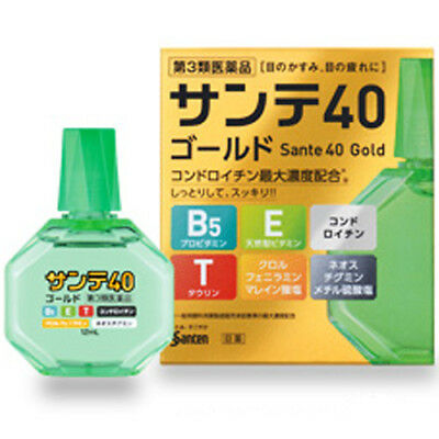 SANTEN Sante 40 Gold for Blurred Vision Eyestrain Medicated Eye Drops 12mL
