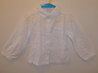 JOJO MAMAN BEBE - Lovely Girls Embriodered Flower Blouse Top 18-24 Months - VGC