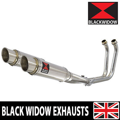 TDM 900 02-09 2-2 Full Exhaust System 230mm GP Stainless Silencers 230SR