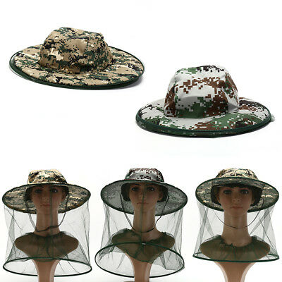 insect bee mosquito resistance bug net mesh head face protector cap sun hat HI