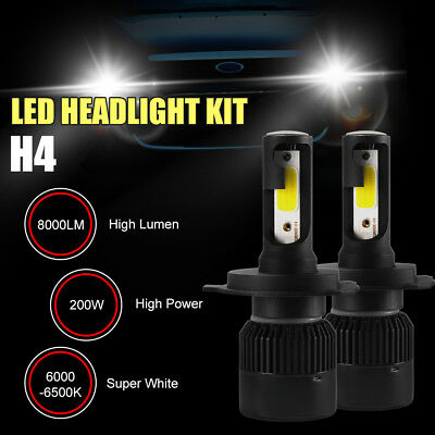S2 H4 200W 8000LM Phare de Voiture CREE LED Feux Headlight Kit Ampoule LD1375