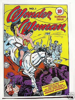 Vintage 1978 WONDER WOMAN #1 Cover Pin up Poster DC