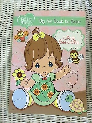 """PRECIOUS MOMENTS DELUXE Coloring Book 1999 Vintage UNCOLORED """"Caring ..."""