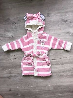 Disney Minnie Mouse Girls Dressing Gown Size 6-9 Months