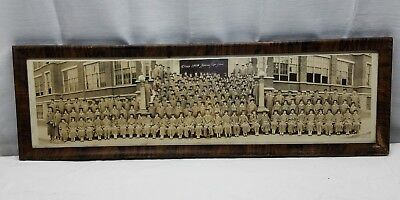 Vintage Antique Panoramic Picture Photograph Wood Glass Frame 1928 Lebanon PA