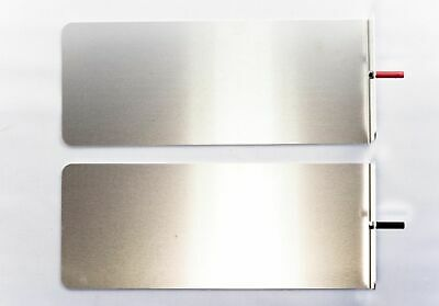 HIDREX Iontophoresis Electrode Stainless Steel Plates with Hidrex Towels - Pair