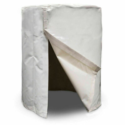 Heavy Duty Vinyl Barrel Cover For 55 Gallon Water Drum Easy Fill Release Holes