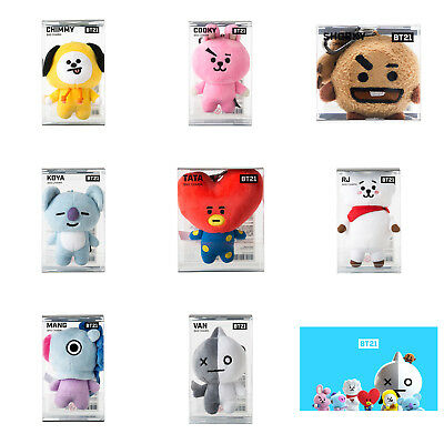 Official BT21 Bag Charm Key Ring KPOP BTS TATA RJ CHIMMY COOKY SHOOKY KOYA MANG