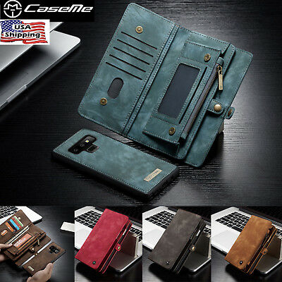 Samsung Galaxy Note 9 S9 Leather Removable Wallet Magnetic Flip Card Case Cover