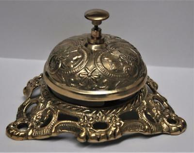 New Ornate Solid Brass Victorian Desk Service Bell <> Large <> Classy <>Unique