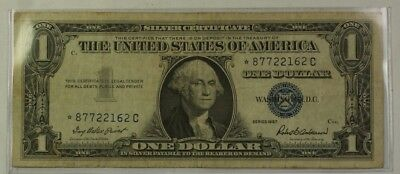 1957 One $1 Dollar Silver Certificate *Star* Note VG-VF Old US Currency
