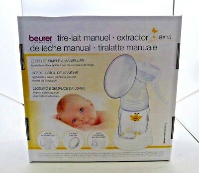 Beurer BY15 Manual Breast Pump NEW