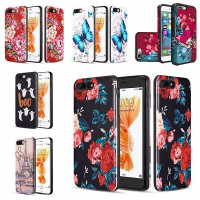 For Iphone 8 Plus / Iphone 7 Plus Butterfly Serice Cute Girls Phone Cover Case