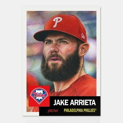 2018 TOPPS NOW LIVING SET # 71 Jake Arrieta (Only 5,060 Printed)