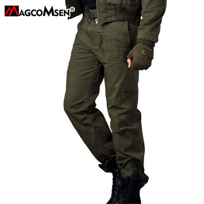 Men Combat Cargo Pants Trousers Military Army Rip-Stop Workout Training Pants