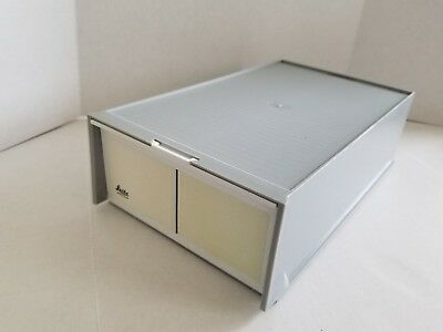 Leitz Wetzlar 35mm Slide Boxes 2 Trays Storage Box 72 picture
