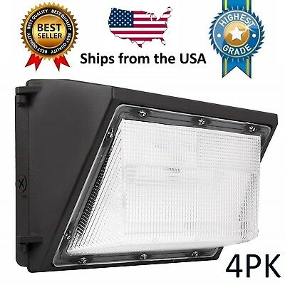 (4PK) LED Wall Pack - 80W 5000K Outdoor / Industrial Light Fixture 120-277V