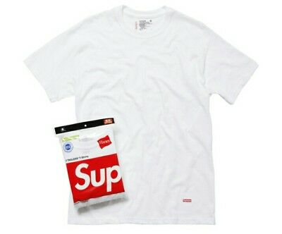 Supreme Hanes Tagless Tee White Size S (1 T-SHIRT ONLY) 100% Authentic Brand New
