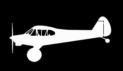 PA18 SUPER CUB Bushed Out Sticker Decal Bushwheels Aircraft