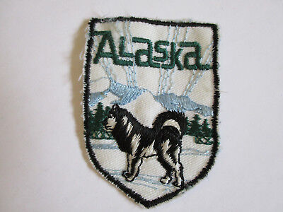 vintage 1970's Alaska Travel Souvenir Patch