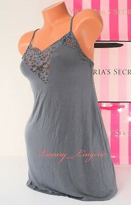 S Small VICTORIA'S SECRET VS Lingerie Viscose Sleep Babydoll Chemise Lace