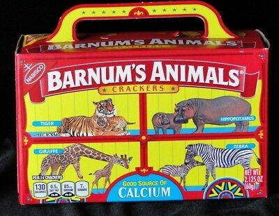 Nabisco Barnums Animal Crackers Box Cage Background Barnum's NEW DISCOUNTINUED