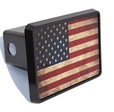 Rogue River Tactical Funny USA American Flag Trailer Hitch Cover Plug US Patriotic America Yeah