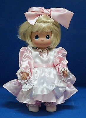 Precious Moments Vinyl Doll 4263 Name Your Own Doll Blonde 2nd Edition  (A)