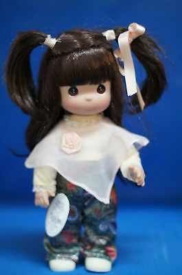 """Precious Moments 12"""" Vinyl Doll Signed 4401 Pretty in Paisley Brunette  (B)"""