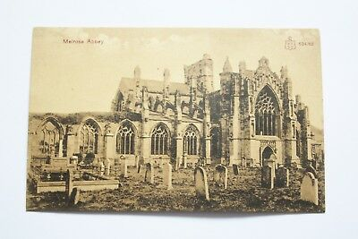 Pre-1918 Collectable Postcard - Melrose Abbey, Roxburghshire - W.R & S Reliable