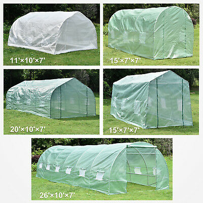 Portable Walk-In Green House Larger Outdoor Plant Gardening Steel Greenhouse