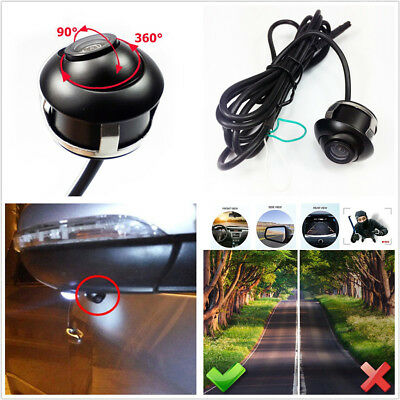 Night Vision DC12V Car SUV Front Side 360 Degree View HD Camera RCA/4PIN AL/NTSC