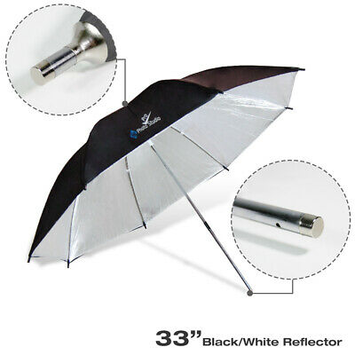 "33"" Black/Silver Reflector Photo Studio Photography Lighting Soft Flash Umbrella"