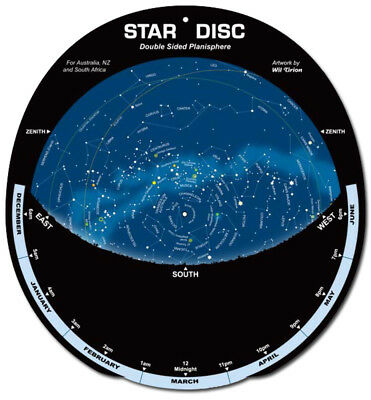 Star Disc – Planisphere Southern Hemisphere perpetual with planet finder chart
