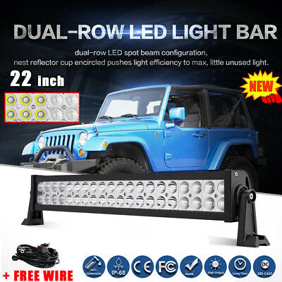 """22inch 280W PHILIPS LED Light Bar SPOT FLOOD Combo Offroad Driving Truck 20""""23"""""""