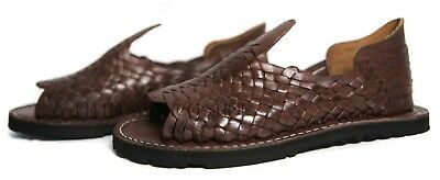 PREMIUM Men's Mexican Sandals BROWN THICK WEAVE Huaraches Huarache Style Chancla