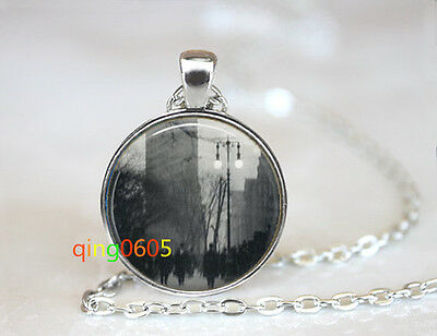 NYC New York City Glass dome Tibet silver Chain Pendant Necklace wholesale