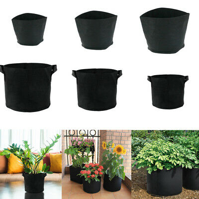 Black Hydroponic Root Fabric Smart Pot Grow Bags Plant Container Pouch Bag Pots