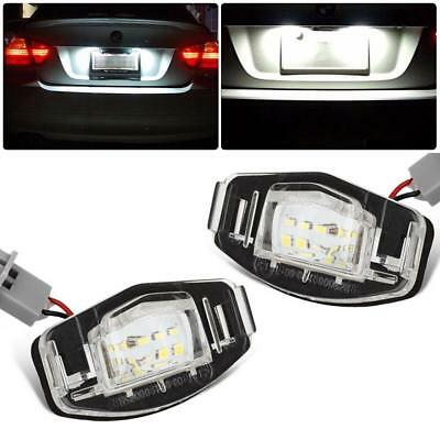 2x 18 LED License Plate Light Direct For Acura TL TSX MDX Honda Civic Accord #vi