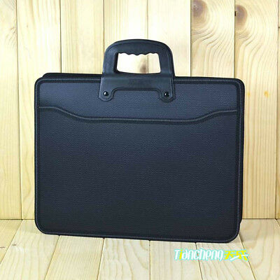 A4 Men Office Zipper Briefcase Bag Document File Holder Handle Handbag Organizer