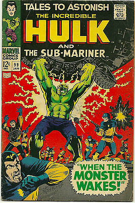 Tales To Astonish #99 Jan 1968 Incredible  Hulk And Sub-Mariner (Fn-)