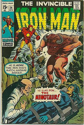 The Invincible Iron Man . Vol 1 #24 April 1970  Cents Issue (Fn)