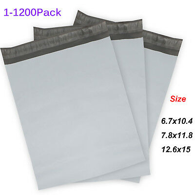 Poly Mailers (Plastic Envelopes) White/Gray Shipping Mailing Bags 2.4mil 2018 US