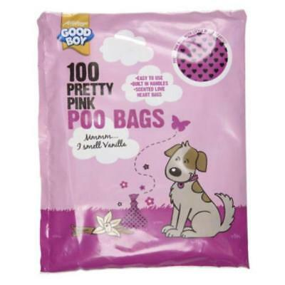 Good Boy Pretty Pink Dog Poo Bags - 10 X Pack of 100 = 1000 BAGS! SAVE £££££££'S