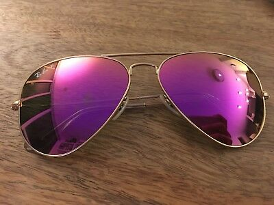 75351162e7 RAY BAN RB3025 112 1Q Matte Gold   Cyclamen Pink Polarized 58mm ...