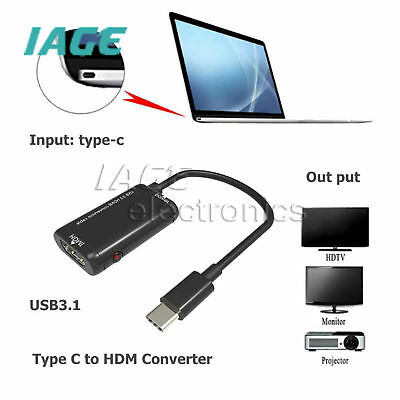 USB-C Type C to HDMI Adapter USB3.1 Cable Konverter For MHL Android Phone Tablet