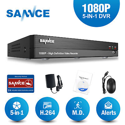 SANNCE 16CH/ 8CH/ 4CH Full 1080P DVR HD Video Recorder for Home Security System