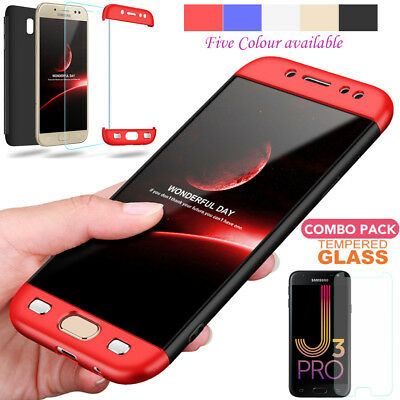 Full Body Hard Cover Hybrid Shockproof Case For Samsung Galaxy J3 J5 J7 Pro 2017