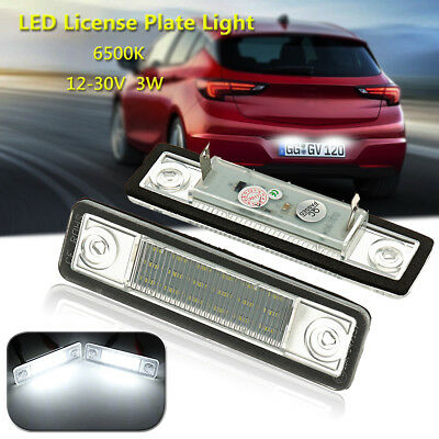 LED Licence Number Plate Light For Vauxhall Opel Astra F G Vectra Tigra Zafira A
