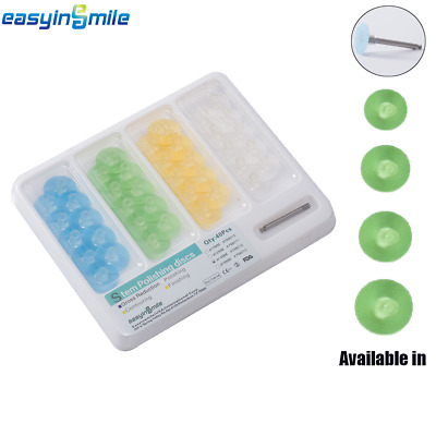 Dental Stem Finishing Polishing Discs Assorted Kit 40 Pcs & Mandrel EASYINSMILE